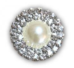 Pearl Double Row Diamante Embellishment