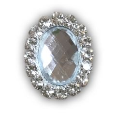 Crystal Oval Embellishment