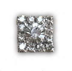 Crystal Square (15mm) Embellishment