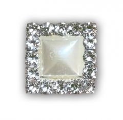 Pearl Square (15mm) Embellishment