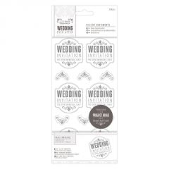 Wedding Invitation - Die Cut Sentiments - Silver - Papermania Wedding Collection