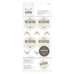 Wedding Evening Invitation - Die Cut Sentiments - Gold - Papermania Wedding Collection