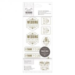 Wedding Mixed - Die Cut Sentiments - Gold - Papermania Wedding Collection