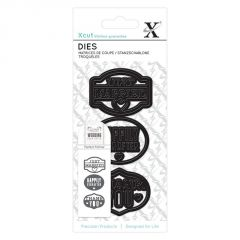 Xcut - Just Married - Small Dies - Papermania Wedding Collection