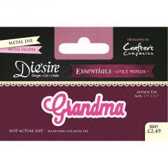 Grandma - Die'sire Essentials - Only Words Die