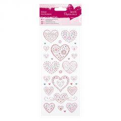 Love - Glitter Dot Stickers - Papermania