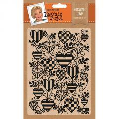 """Growing Love - Leonie Pujol 5 x 7"""" Embossing Folder"""