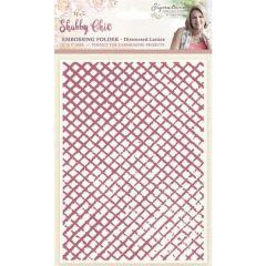 "Distress Lattice 5"" x 7"" Embossing Folder - Shabby Chic - Sara Davies Signature Collection"