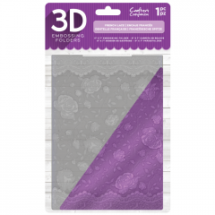 """French Lace - Crafter's Companion 5 x 7"""" 3D Embossing Folder"""