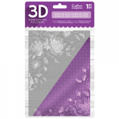 "Rambling Rose - Crafter's Companion 5 x 7"" 3D Embossing Folder"