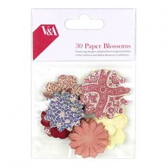 V & A - Pack of 30 Paper Blossoms