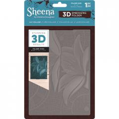 "Lily Collage - Sheena Douglass  5 x 7"" 3D Embossing Folder"
