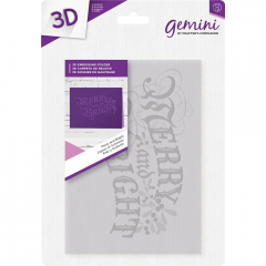 Merry and Bright 3D Embossing Folder