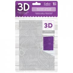 """Zen Garden - Crafter's Companion 5 x 7"""" 3D Embossing Folder"""