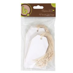 Papermania - White Gift Tags - Pk of 20