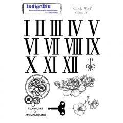 Clock Work - IndigoBlu A5 Mounted Stamp Set