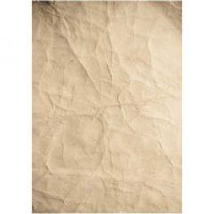 Crumpled Kraft Printed Paper