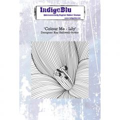 Colour Me - Lily - IndigoBlu Mounted Stamp