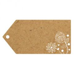 Eleganza Greeting Tags - Flowers - 100 x 50mm (Pack of 10)