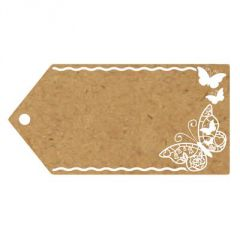 Eleganza Greeting Tags - Butterflies - 100 x 50mm (Pack of 10)