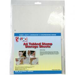 A4 Tabbed Stamp Storage Sheets - Stix2