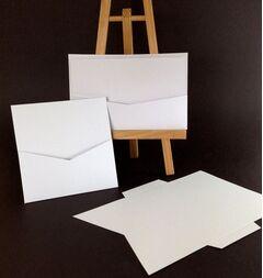 Basic Quality White 224gsm Pocket Card