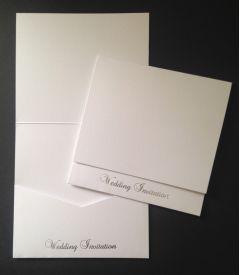 Stardream Crystal White Wedding Invitation Pocketfold