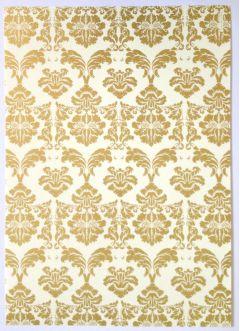 Artoz A4 Cream & Gold Paper - Baroque Gold