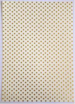 Artoz A4 Cream & Gold Paper - Golden Stars