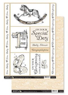 A4 Die Cut Card Toppers - Christening / Baby