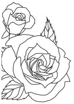 Sketched Rose - KaiserCraft Embossing Folder