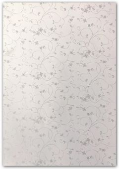 Artoz A4 White & Silver Paper - Blooming Silver
