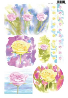 A4 Die Cut Card Toppers - Floral (2073)