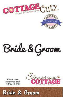 Cottage Cutz Cutting Die - Bride & Groom