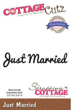 Cottage Cutz Cutting Die  - Just Married
