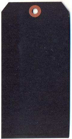 Single Black Tag - 120 x 60mm