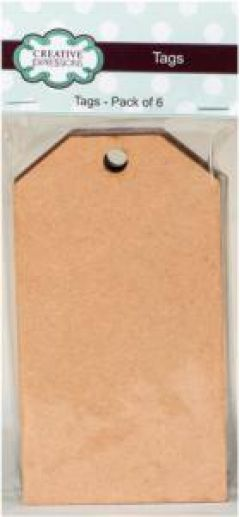 Creative Expressions - MDF Tags - Pack of 6