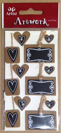 Hearts in Picture Frame - Artwork Toppers