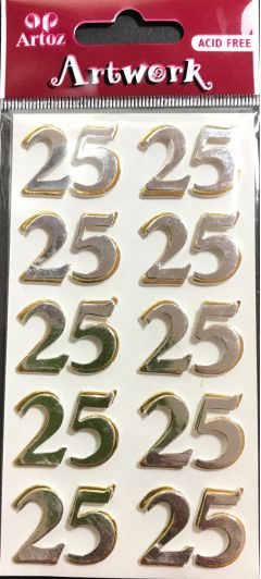 Number 25 - Artwork 3D Toppers