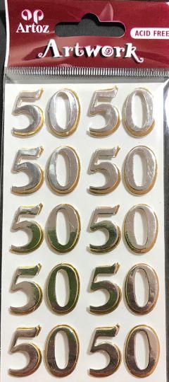 Number 50 - Artwork 3D Toppers