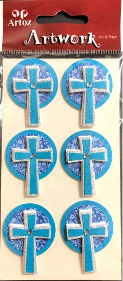 Blue Crosses - Artwork 3D Toppers