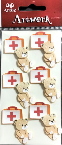 First Aid Teddy - Artwork Toppers