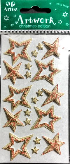 Gold/Copper Stars - Artwork Toppers