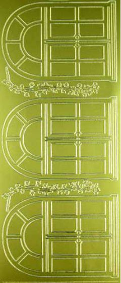 Arch Windows with Trailing Ivy (Peel Offs - Ornamental)