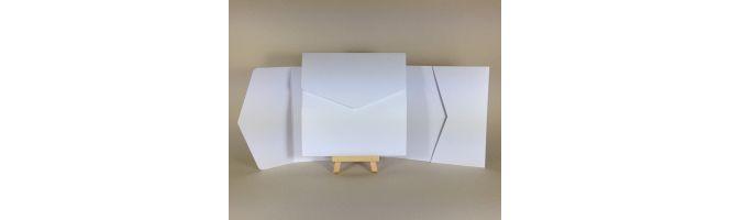 100% Recycled White 300gsm 150x150mm POCKETFOLDS
