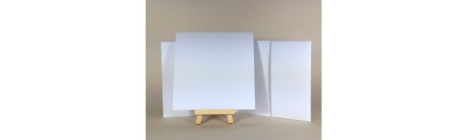 100% Recycled White 300gsm 300gsm 140x140mm POCKETFOLDS