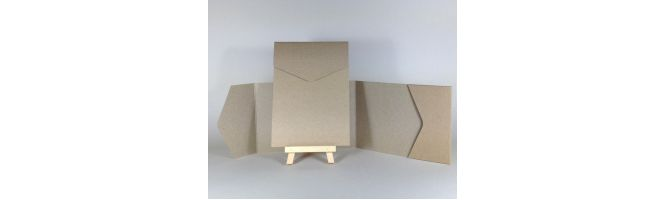 Cairn Natural Kraft Recycled 350gsm A6 POCKETFOLDS