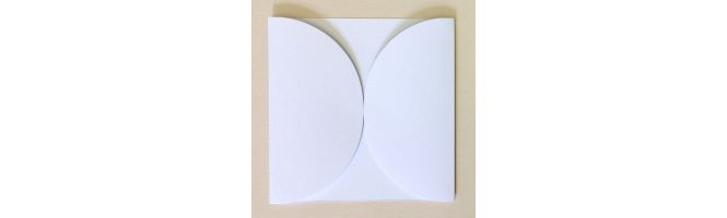 100% Recycled White 300gsm Petal Gatefolds