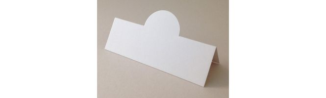 Old Mill Bianco 300gsm White Pop-Up Place Cards