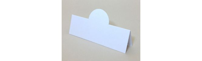 Quality White Arco 250gsm Pop-Up Place Cards